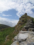 SX07244 View over castle wall on Tintagel Island.jpg